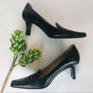 Anne Klein Iflex Black Leather Pumps 7.5